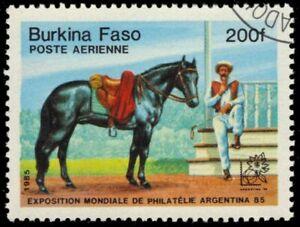 "BURKINA FASO 729 - ARGENTINA '85 Exhibition ""Rider and Horse"" (pb22092)"