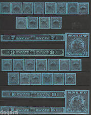 B. 212 - US stamps, Snuff stamps, Series 123-1953, 124-1954