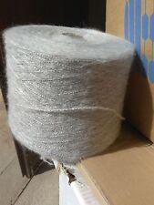 fil a tricoter mohair Gris 1Kg450