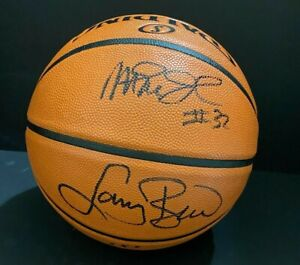 Magic Johnson & Larry Bird Authentic Autographed Signed Spalding Basketball COA