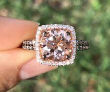 Levian Ring Peach Morganite Chocolate Diamonds 14k Rose Gold