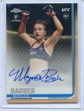2019 Topps UFC Chrome MAYCEE BARBER RC Refractor 1st Auto Rookie Autograph