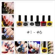 6 Stk 15ml Born Pretty Stempellack Stamping Lack Nail Art Stamping Polish #1- #6