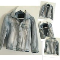 River island Boys Light wash Trendy Distressed Denim Jacket 4 Years