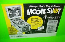 Moon Shot Pinball FLYER Original 1969 NOS Chicago Coin Space Age Astronaut