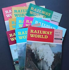 Railway World Magazines Job Lot  of 10 from 1969 1970 and 1971