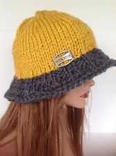 Hat Wide Brim Rock Star Charm Beanie Slouch Hand Knits 2 Love Designr Fashion