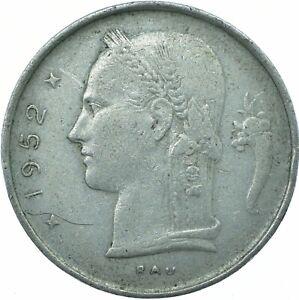 COIN / BELGIUM / 1 FRANC 1952   #WT20114