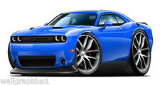 2015 Dodge Challenger R/T Premium Wheels Car Wall Graphic Decal Sticker Poster