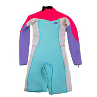 Billabong BNWT Multicoloured Girls Long Sleeve Wetsuit Synergy Size 10 Youth
