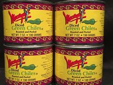 Lot 4 Pack Macayo Diced Mild Mexican Green Chiles - 7 OZ Cans Roasted & Peeled