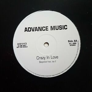 """BEYONCE & JAY-Z : CRAZY IN LOVE  (12"""" PROMO + 1 feat. PHARRELL) ♦ MAXI 45 ♦"""