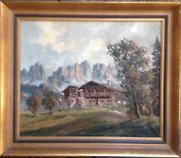 ::ADOLF BÖCK *1890 TEGERNSEE BAUERNHOF IN CORTINA ITALY ALPEN LANDSCHAFT HAUS
