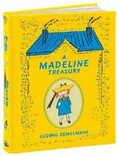 A MADELINE TREASURY ~ LEATHER BOUND GIFT ED ~ LUDWIG BEMELMANS ~ ILLUS ~ NEW