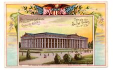 1904 ST LOUIS EXPOSITION, TEMPLE FOR SECRET ORDERS, FLAGS, #2 FROM SET OF 18
