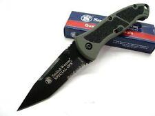 Couteau Smith&Wesson SWAT Lame Acier 4034 Serrat Manche Aluminium Gray SWSPECMS