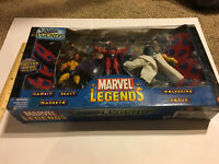 MARVEL LEGENDS GAMBIT WOLVERINE ROGUE BEAST MAGNETO FIGURE 5 PACK LOT SET BOX