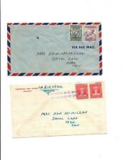 Newfoundland Canada Forces-Avalon&ship censor # showing location1945 on 2 covers