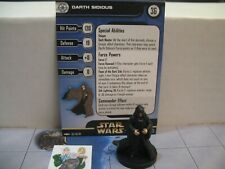Star Wars Miniatures Clone Strike Darth Sidious with card 36/60