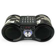 Camouflage Stereo FM Radio USB TF Card Speaker MP3 Music Player+Remote Control
