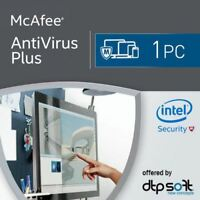 MCAFEE ANTIVIRUS PLUS 2019 - 1 DEVICE - 1 YR PC MAC ANDROID IOS IPHONE