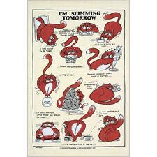 Estoy Adelgazar mañana Lino/Ulster Weavers Gato toalla de té Regalo textiles de cocina