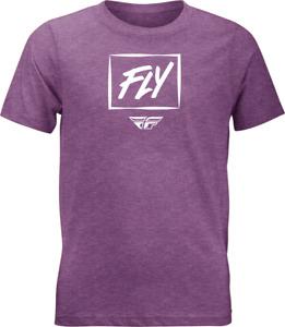 Fly Racing Kid's Zoom Tee T-Shirt (Purple Heather) Youth LG