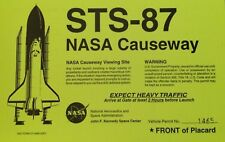 STS-87 NASA CAUSEWAY KENNEDY SPACE CENTER VEHICLE PERMIT NO. 1465