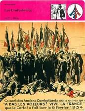 FICHE CARD Les Croix-de-feu 1927-1936 colonel François de La Rocque France 90s