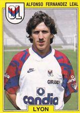 n°99 VIGNETTE PANINI CHAMPIONNAT DE FRANCE 1992 ALFONSO FERNANDEZ LEAL LYON