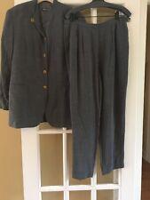 GIORGIO ARMANI Womens Vestimenta Spa Pant Suit Gray Size 48