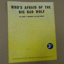 Unanimità chi ha paura del lupo cattivo, F e Churchill, un ronell, 1933