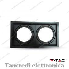 Portafaretto orientabile per 2 lampadine AR111 V-TAC VT-7222 nero 325 x 175 mm