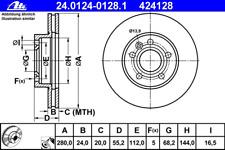 Brake Disc (2 Piece) - ATE 24.0124-0128.1
