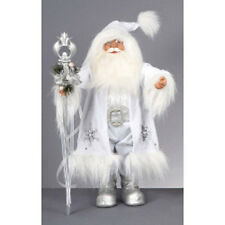 Premier Winter White Santa With Staff 60cm xmas christmas decoration