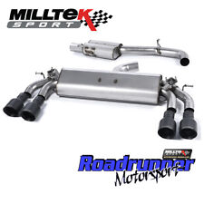 "MILLTEK GOLF R MK7.5 Scarico Cat Indietro 3"" rinunciando Consonanza Nero GT100 2017 su"