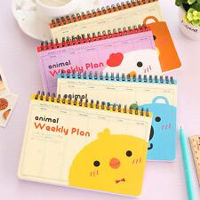 Cute Cartoon Scheduler Organizer Journal Notebook Weekly Plan Planner Stationery