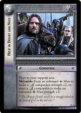 LOTR TCG Help In Doubt and Need x3 4R124 The Two Towers Lord of the Rings NM x3
