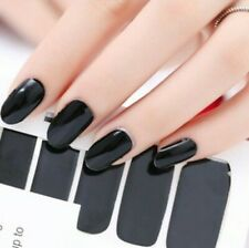 Color Nail Stickers for Women Strips Ombre Fall Halloween Solid Red Special