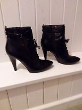 "Beautiful Jane Shilton Black Leather Ankle Boots, Immaculate. 4"" heel."