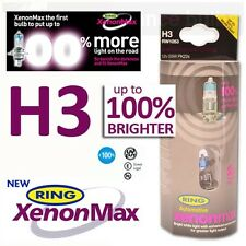 RW1053 Ring H3 XENON MAX +100% Uprated Car Bulbs 12v 55W PK22s Twin Pack