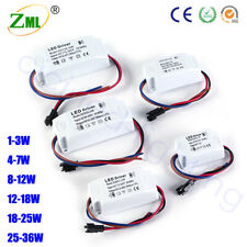 LED Driver 3W 18W 24W 36W DC 12V Transformer 300ma Power Adapter Home Converter
