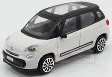 Fiat 500L City 2012 White Black Burago 1:43 BU30271WH-30000