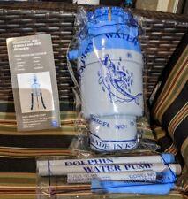 Dolphin Water Pump - BPA-Free Manual Drinking Water Pump - Fits Most 5-6 Gallon
