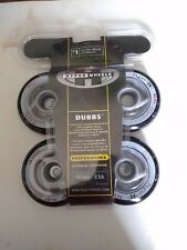 1 New 4 Pack of Black Hyper Wheels Dubbs Outdoor 80mm 82A