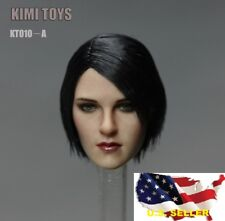 KIMI KT010 1/6 female head short black hair for hot toys phicen KUMIK❶US SELLER❶