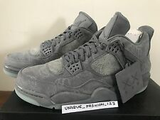 NIKE AIR JORDAN RETRO 4 IV KAWS COMPANION US 10 UK 9 44 2017 AJ4 COOL GREY SUEDE