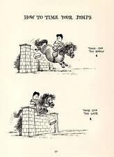 1962: Thelwell comique Cheval Poney Original Vintage Art De Dessin Animé Imprimé