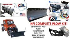 "KFI POLARIS 14-18 Ranger 1000 RZR Snow Plow Complete Kit 72"" POLY Straight Blade"