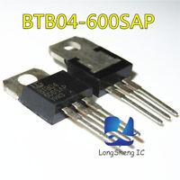10pcs ST BTB04-600SAP TO-220 SENSITIVE GATE TRIACS new
